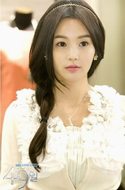 Korean Drama 49 days Tear Drop Innocent Love Necklace