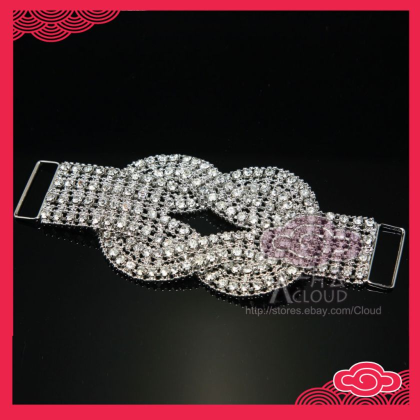 BRIDAL WEDDING DRESS BUCKLE BRACELET JEWELRY CRYSTAL BELT SASH