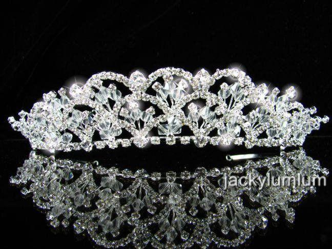A347 Wedding Bridal Bridesmaid Prom Party Swarovski Crystal Rhinestone
