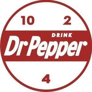 Vintage Dr Pepper sticker decal 3 diameter