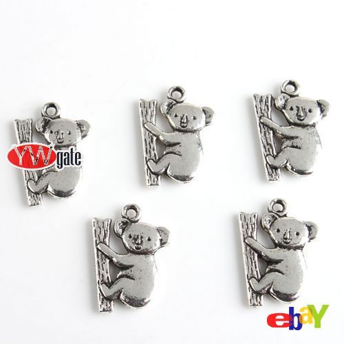 50Pcs Tibetan Silver Animal Zoo Charms Pendant Mixed Style To Pick