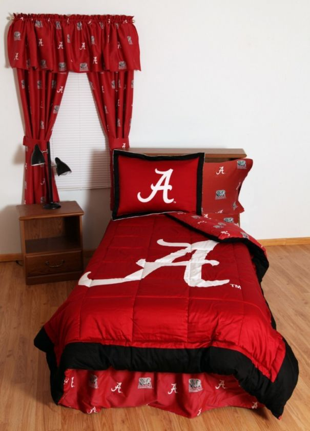 Alabama Crimson Tide NCAA Twin Bed In A Bag With Team Color Sheets