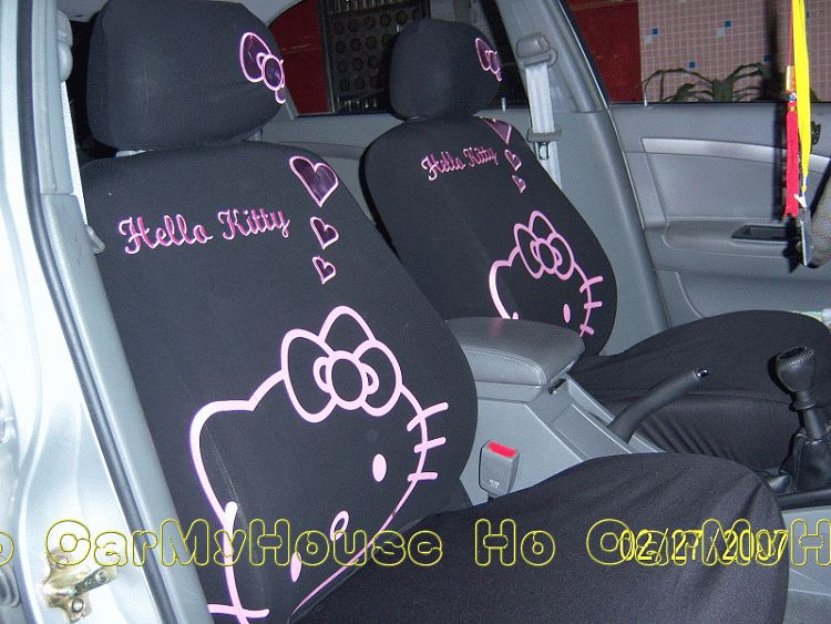 New Hello Kitty Love Car Seat Cover Set 10 pcs  Pink