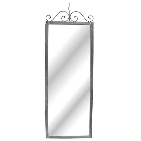 Raw Steel Hanging Wall Full Length Mirror 24Wx60H nu